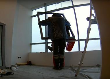 """Замена холодного остекления фасада в ЖК """"Спасский Мост"""""""